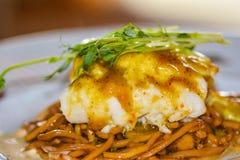 Piatto con il pesce Immagini Stock Libere da Diritti