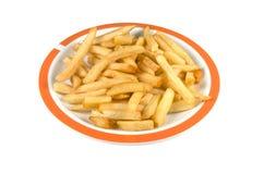 Piatto con le patate fritte. Immagini Stock Libere da Diritti