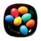 Piatto con le uova di Pasqua Fotografia Stock