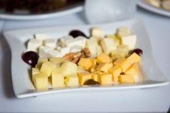 Piatto con le variazioni del formaggio Fotografie Stock Libere da Diritti