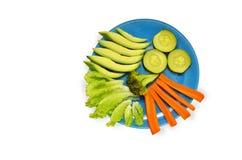 Piatto con le verdure Immagini Stock