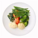 Piatto con le verdure cotte a vapore Fotografie Stock Libere da Diritti