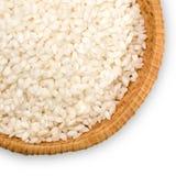 Piatto con riso Fotografie Stock Libere da Diritti