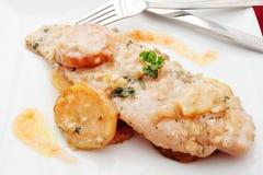 Piatto cucinato merluzzi fotografia stock libera da diritti