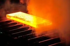 Piatto d'acciaio caldo Fotografia Stock