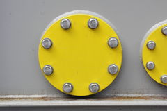 Piatto d'acciaio circolare Fotografie Stock
