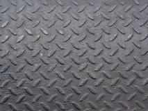 Piatto d'acciaio del diamante nero Immagine Stock Libera da Diritti