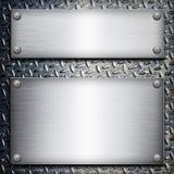 Piatto d'acciaio spazzolato Immagine Stock Libera da Diritti