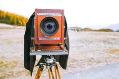 Piatto d'annata del film di formato medio di Deardorff pronto per la riproduzione fotografica a phot Immagini Stock