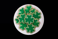 Piatto dei biscotti dell'acetosella Fotografie Stock