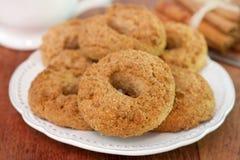 Piatto dei biscotti della cannella Immagine Stock