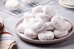 Piatto dei biscotti greci casalinghi di Natale immagine stock