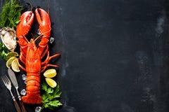 Piatto dei crostacei di frutti di mare dei crostacei fotografie stock