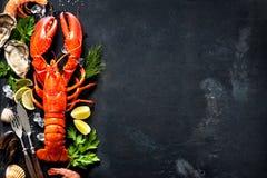 Piatto dei crostacei di frutti di mare dei crostacei fotografia stock