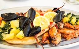 Piatto dei frutti di mare Immagine Stock