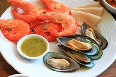 Piatto dei frutti di mare Fotografia Stock