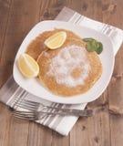 Piatto dei pancake sull'asciugamano Immagine Stock Libera da Diritti