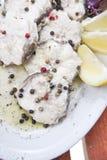Piatto dei pesci cotti a vapore Fotografie Stock Libere da Diritti
