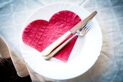 Piatto del cuore Fotografia Stock Libera da Diritti