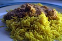 Piatto del curry di Korma del pollo Fotografia Stock Libera da Diritti