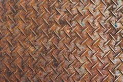 Piatto del diamante del metallo Fotografie Stock Libere da Diritti