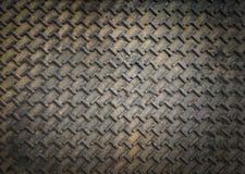 Piatto del diamante del metallo Fotografia Stock Libera da Diritti