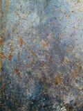 Piatto del ferro Blu del fondo di lerciume, struttura di vecchia pittura immagine stock libera da diritti