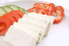Piatto del formaggio di feta Fotografia Stock