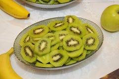 Piatto del kiwi Fotografia Stock