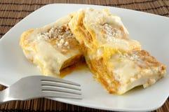 Piatto del Lasagne Fotografia Stock Libera da Diritti