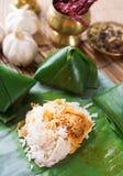 Piatto del malese del lemak di Nasi immagini stock libere da diritti