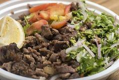 Piatto del manzo di Shawarma Fotografia Stock