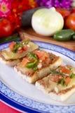 Piatto del Mexican di Molletes Immagini Stock