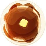 Piatto del pancake Fotografie Stock Libere da Diritti