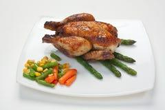 Piatto del pollo fritto fotografia stock
