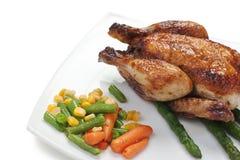 Piatto del pollo fritto immagine stock libera da diritti