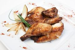 Piatto del pollo fritto immagine stock