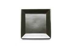 Piatto del quadrato nero Fotografie Stock Libere da Diritti
