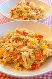 Piatto del riso del pollo Immagini Stock Libere da Diritti