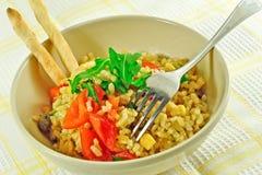 Piatto del riso di freschezza Fotografia Stock