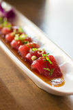 Piatto del sashimi del tonno immagine stock