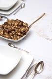 Piatto del seme di papavero della pasta Fotografie Stock