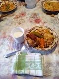 piatto del setif dell'Algeria di tradizione Immagine Stock Libera da Diritti