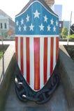 Piatto dell'arco di USS Oregon BB-3 fotografia stock