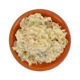 Piatto dell'argilla dell'insalata di pollo Fotografie Stock Libere da Diritti
