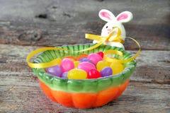 Piatto della caramella del coniglietto Fotografia Stock Libera da Diritti