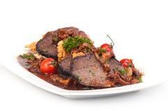 Piatto della carne Fotografie Stock