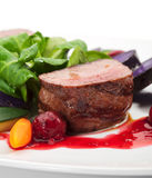 Piatto della carne di cervo Fotografie Stock