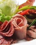 Piatto della carne fredda Immagini Stock Libere da Diritti