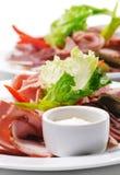 Piatto della carne fredda Fotografie Stock Libere da Diritti
